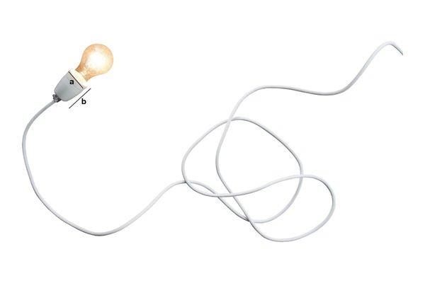 Dimensioni del prodotto Lampada in porcellana bianca NUD
