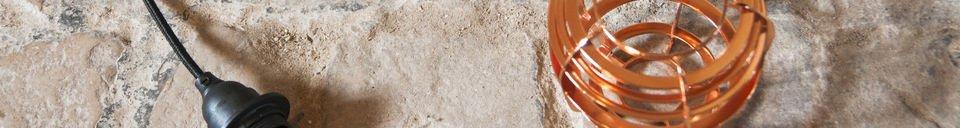 Materiali prima di tutto Lampada pendente Bristol in Rame