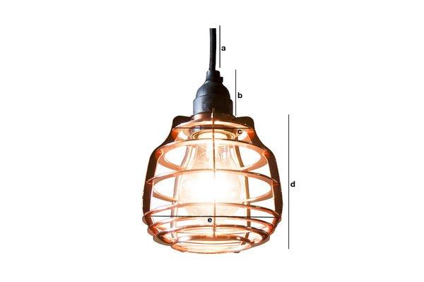 Dimensioni del prodotto Lampada pendente Bristol in Rame