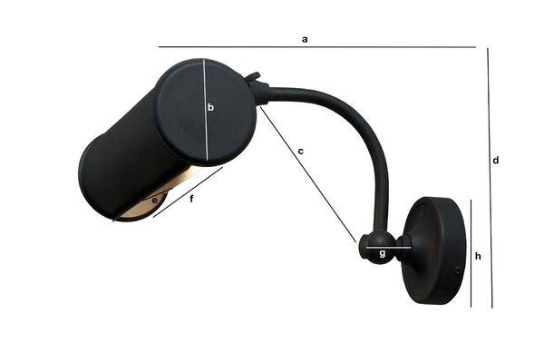 Dimensioni del prodotto Lampada per quadri color nero opaco