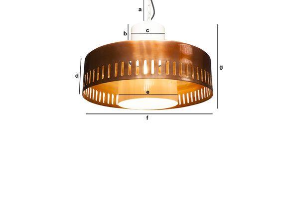 Dimensioni del prodotto Lampada vintage a sospensione Aheris