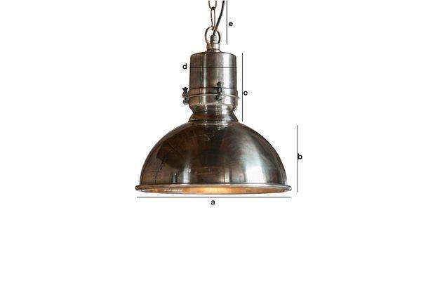 Dimensioni del prodotto Lampadario argentato Lynce