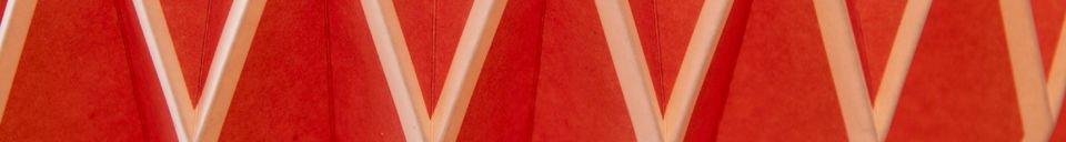 Materiali prima di tutto Lampadario Hippy rosso