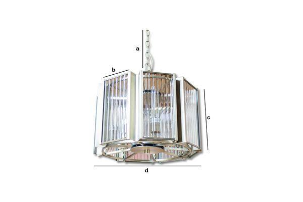 Dimensioni del prodotto Lampadario in vetro e ottone Antibes