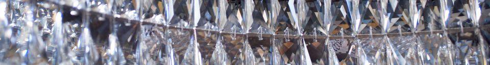 Materiali prima di tutto Lampadario in vetro Monte Carlo