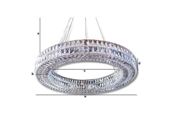 Dimensioni del prodotto Lampadario in vetro Monte Carlo
