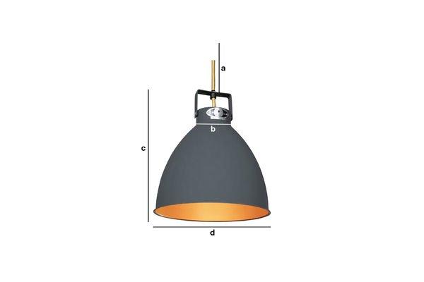 Dimensioni del prodotto Lampadario Jieldè Augustin da 24 cm