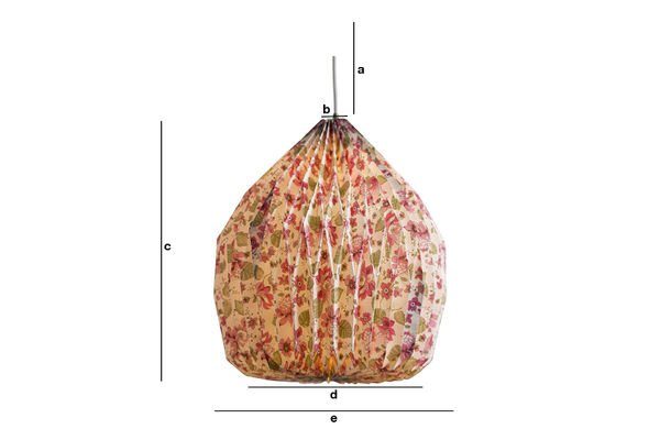 Dimensioni del prodotto Lampadario origami a fiori
