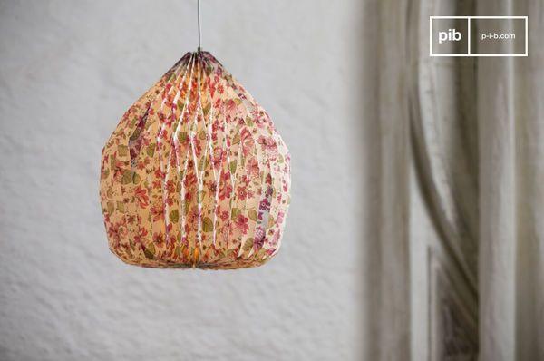 lampada origami a fiori