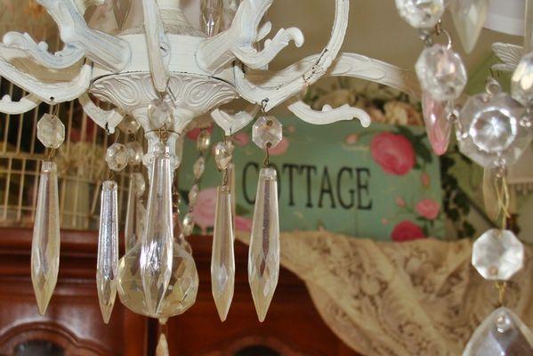 lampadario shabby in stile cottage