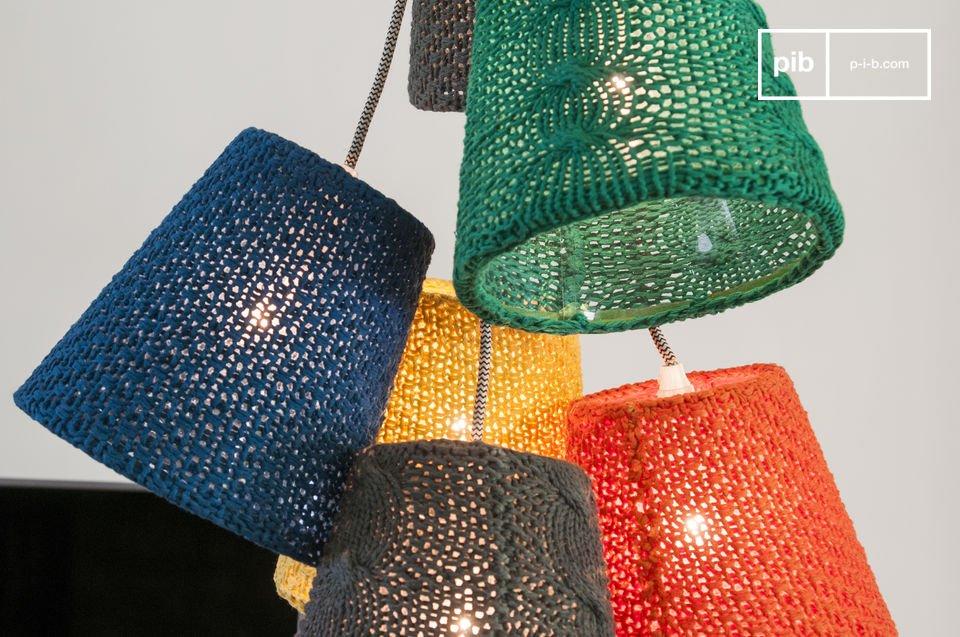 Una lampada dai colori raggianti e divertenti