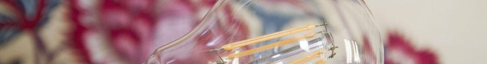 Materiali prima di tutto Lampadina LED 6 cm con filamento