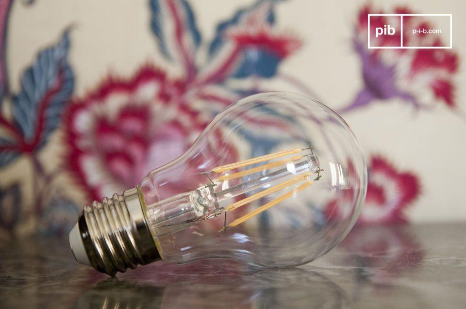 Lampadina LED 6 cm con filamento