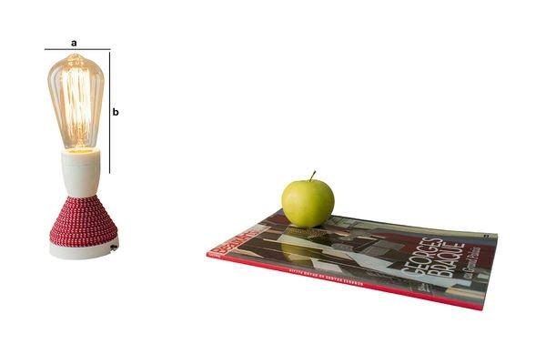 Dimensioni del prodotto Lampadina retro con filamenti lunghi