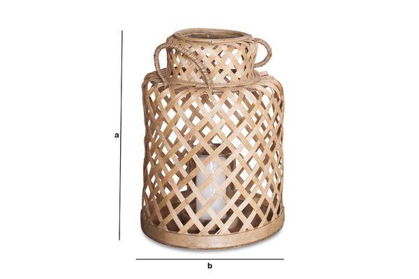 Dimensioni del prodotto Lanterna in bambu Saïgon