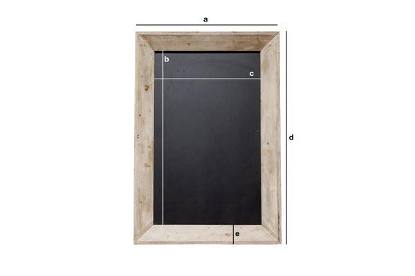 Dimensioni del prodotto Lavagna da birreria 122x83 cm