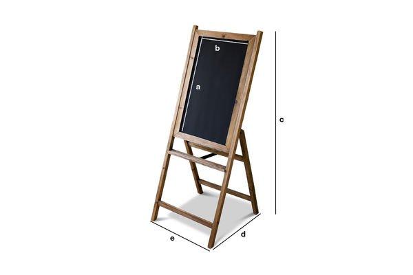 Dimensioni del prodotto Lavagna in legno Leon