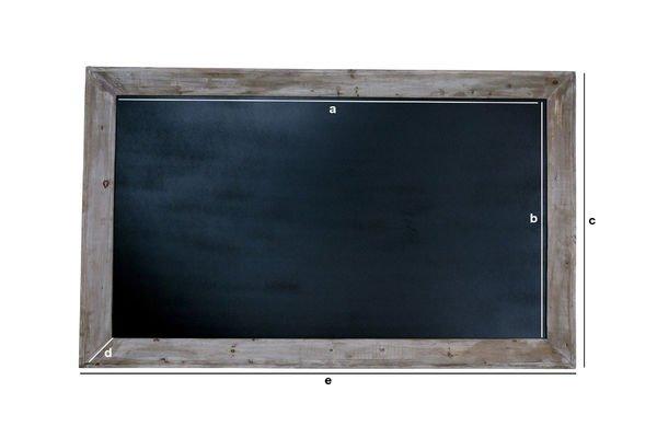 Dimensioni del prodotto Lavagna per menu 115x190cm