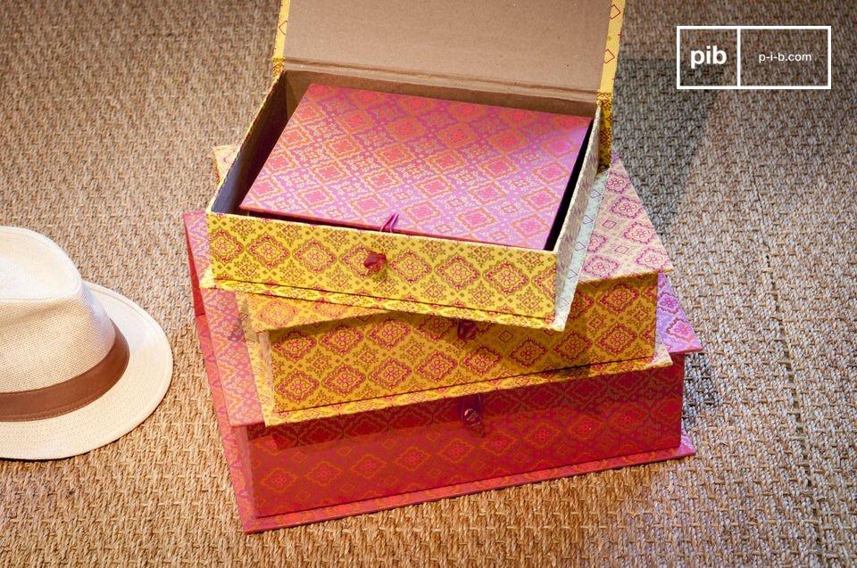 Le scatole del Dottor Vincent consistono in quattro pezzi singoli di differenti colori e grandezze