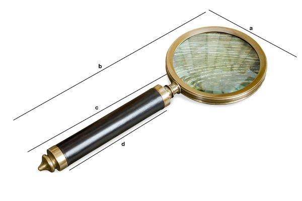 Dimensioni del prodotto Lente d'ingrandimento Sherlock