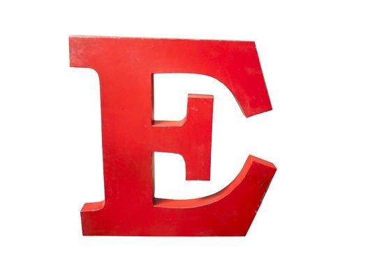 Lettera E decorativa Foto ritagliata