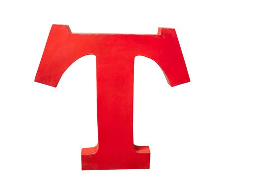 Lettera T decorativa Foto ritagliata