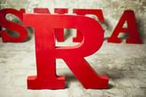 Lettra R decorativa
