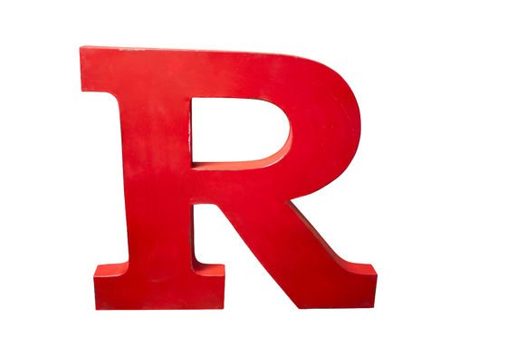 Lettra R decorativa Foto ritagliata
