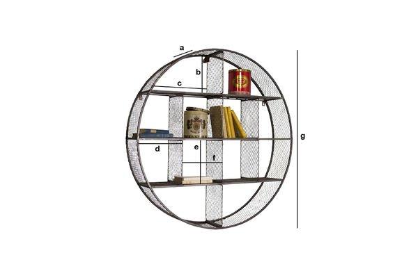 Dimensioni del prodotto Libreria a parete Flèxe