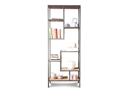 Libreria con scaffali yord n eleganza in legno pib for Scaffali libreria in legno
