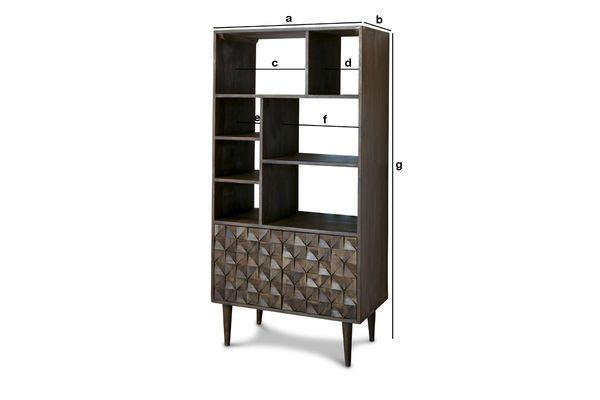 Dimensioni del prodotto Libreria in legno Balkis