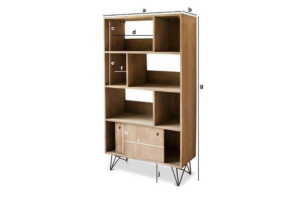 Dimensioni del prodotto Libreria in legno Zurich