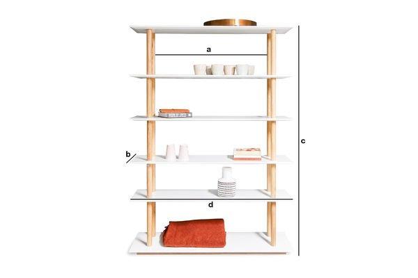 Dimensioni del prodotto Libreria Tennö