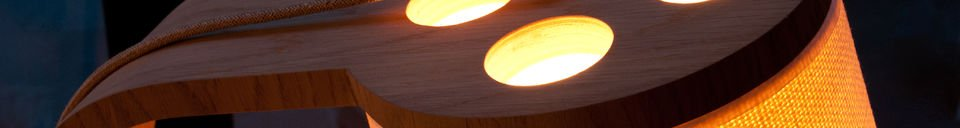 Materiali prima di tutto Luce in legno Lodge