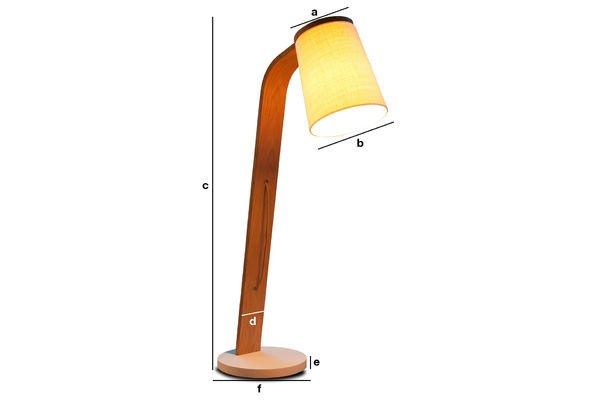 Dimensioni del prodotto Luce in legno Lodge