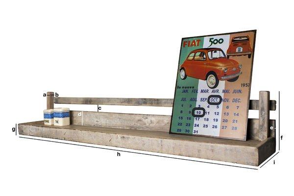 Dimensioni del prodotto Mensola a Muro Epicure