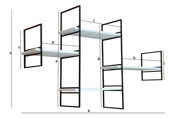Dimensioni del prodotto Mensola modulare in marmo Bridget