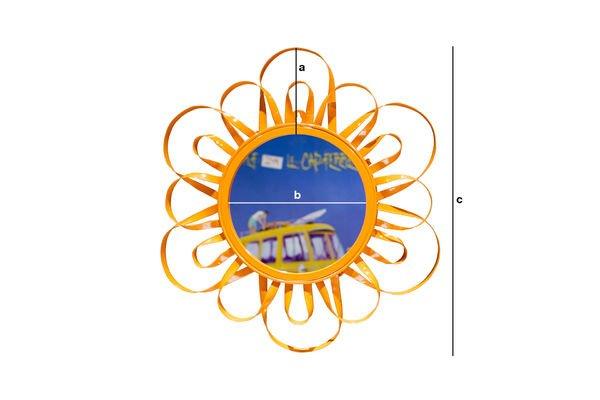 Dimensioni del prodotto Miroir Aurinko orange