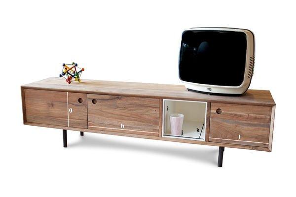 Dimensioni del prodotto Mobile da TV vintage Bascole