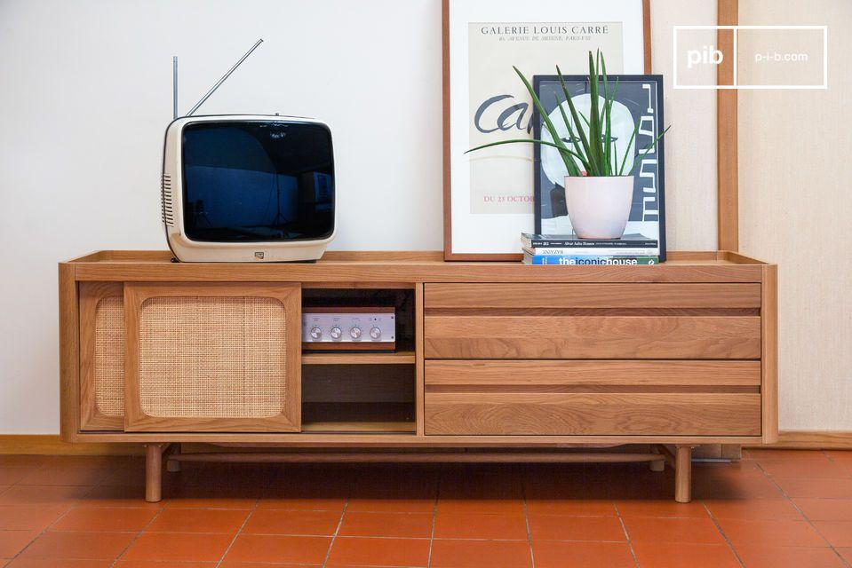 Mobile TV in rovere chiaro Aarne