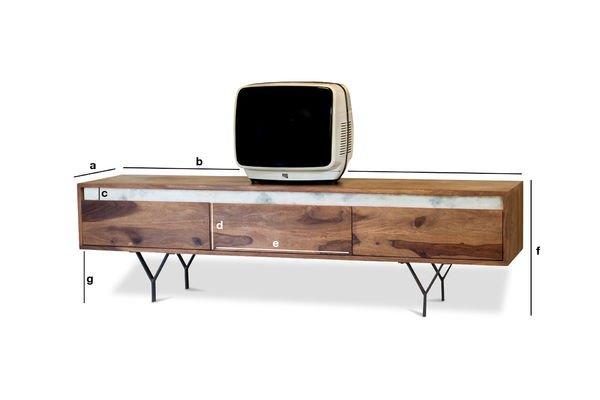 Dimensioni del prodotto Mobile TV Mabillon