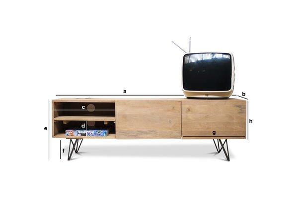 Dimensioni del prodotto Mobile TV Zurich