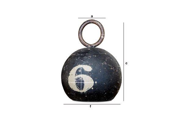 Dimensioni del prodotto Palla di Metallo Number 6