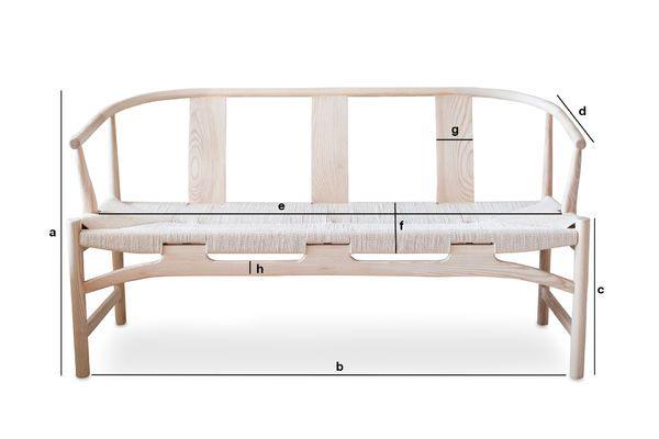 Dimensioni del prodotto Panchina in legno Mäntta