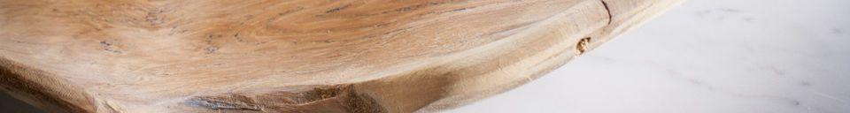 Materiali prima di tutto Piatto Bali in legno teak