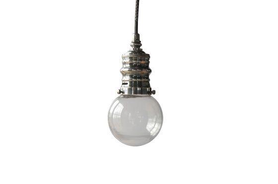 Piccola lampada a sospensione argentata Darwin Foto ritagliata