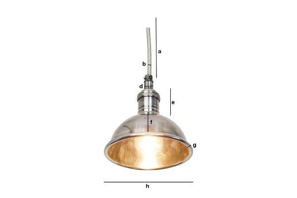 Dimensioni del prodotto Piccola plafoniera argentata