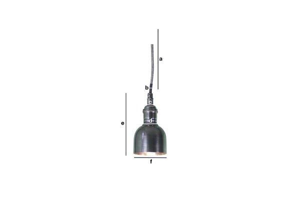 Dimensioni del prodotto Piccolo lampadario a campana