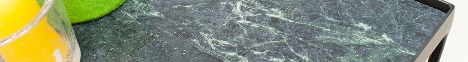 Materiali prima di tutto Piccolo tavolo Bumcello in marmo verde