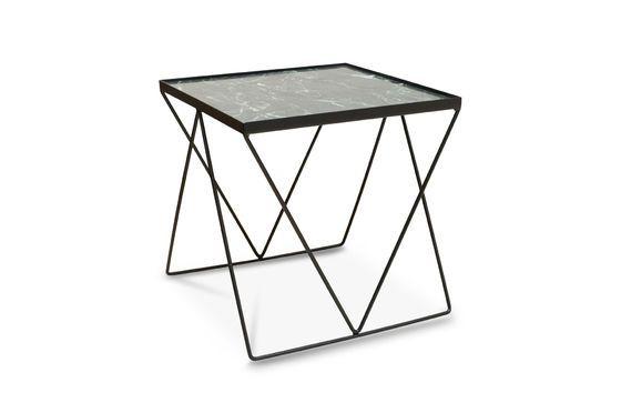 Piccolo tavolo Bumcello in marmo verde Foto ritagliata